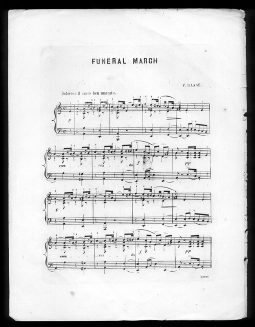 Funeral March, in memoriam, in honor of President Lincoln