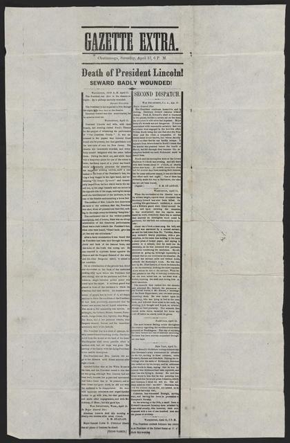 Gazette Extra, [newspaper]. Chattanooga, April 15.