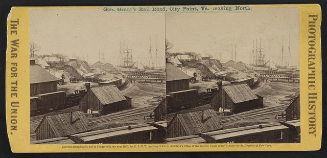 Gen. Grant's rail road, City Point, Va. looking north