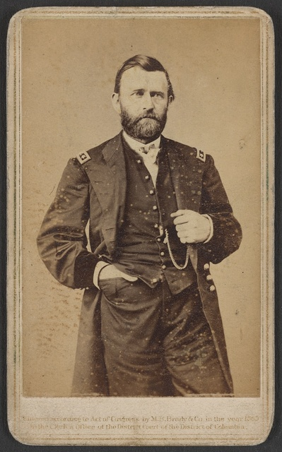 [Gen. Ulysses S. Grant in military uniform] / M.B. Brady & Co. National Photographic Portrait Galleries, No. 352 Pennsylvania Av., Washington, D.C. & New York.