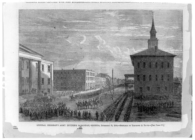 General Sherman's army entering Savannah, Georgia, December 21, 1864