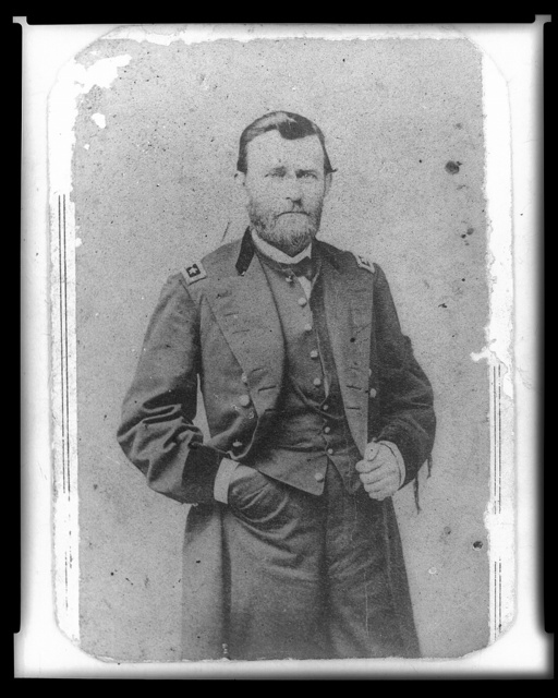 [General U.S. Grant, three-quarter length portrait, standing, facing right, in uniform]