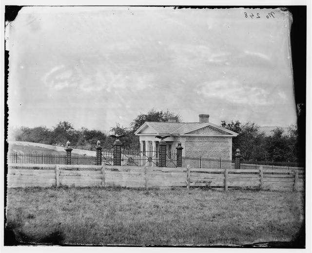 Gettysburg, Pennsylvania. Entrance to National Cemetery