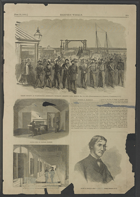 [Grand Review of the Armies, Washington, D.C.; Jefferson Davis' cell at Fort Monroe; portrait of David E. Herold, accomplice of John Wilkes Booth]