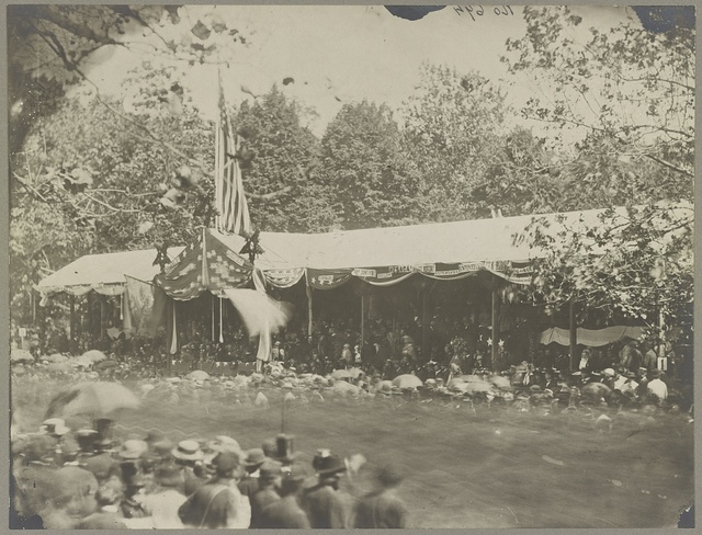 Grand Review of the Army - Wash. D.C., May 1865, reviewing stand in front of Executive Mansion