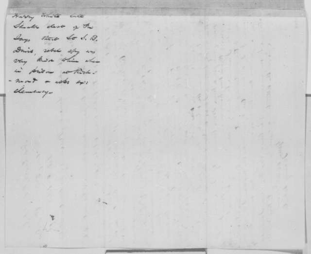 Harry White to Abraham Lincoln, Thursday, February 09, 1865  (Writes on behalf of Samuel B. Davis)