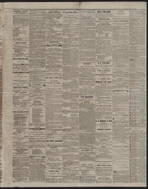 Hartford Daily Current, [newspaper]. April 18, 1865.