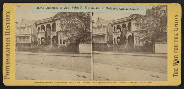 Head Quarters of Gen. John P. Hatch, South Battery, Charleston, S.C.