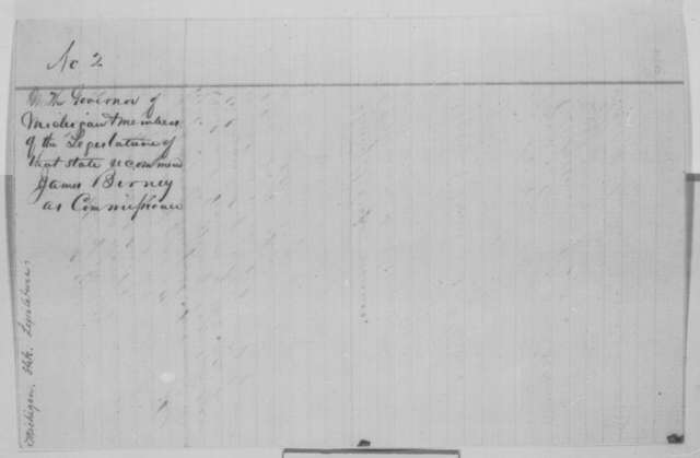 Henry H. Crapo, et al. to Abraham Lincoln, Friday, January 20, 1865  (Recommendation)