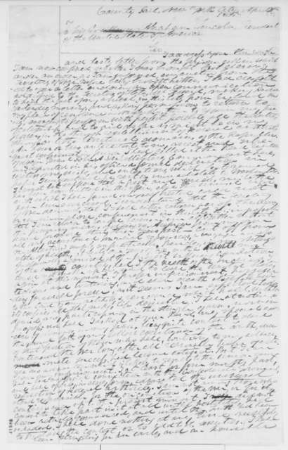 Henry S. Foote to Abraham Lincoln, Friday, April 07, 1865  (Seeks release from jail and permission to return home)