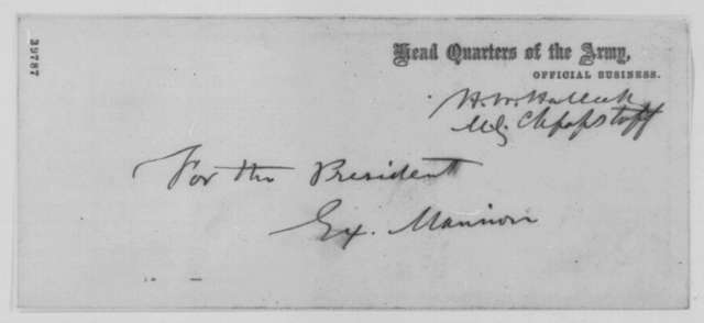 Henry W. Halleck to Joseph J. Reynolds, Tuesday, January 03, 1865  (Reoccupation of Fort Smith, Arkansas)