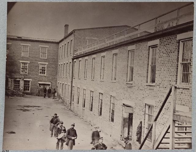 Interior of court-yard, Castle Thunder, Richmond, Va., April, 1865