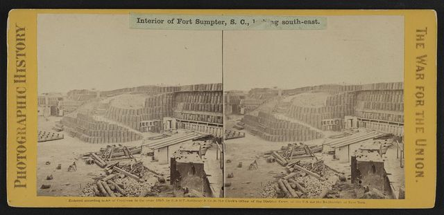 Interior of Fort Sumpter (i.e. Sumter), S.C., looking south-east