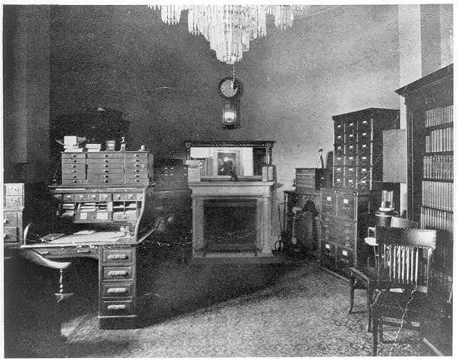 Interior of U.S. Marshall's office, 1865