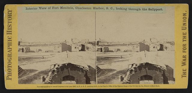 Interior view of Fort Moultrie, Charleston Harbor (i. e. Sullivan's Island), S.C., looking through the sallyport