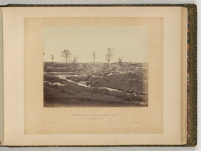 Interior view of the Confederate line, at Gracie's Salient / negative by T.H. O'Sullivan, positive by A. Gardner.