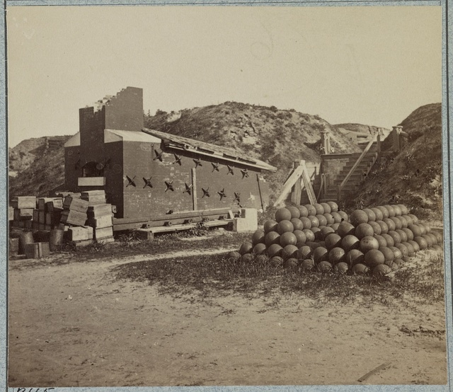 Interior views of Fort Sumter, in April, 1865
