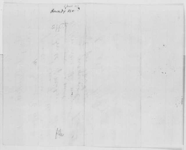 Jacob M. Howard to Abraham Lincoln, Wednesday, March 08, 1865  (Recommendation; with endorsement)