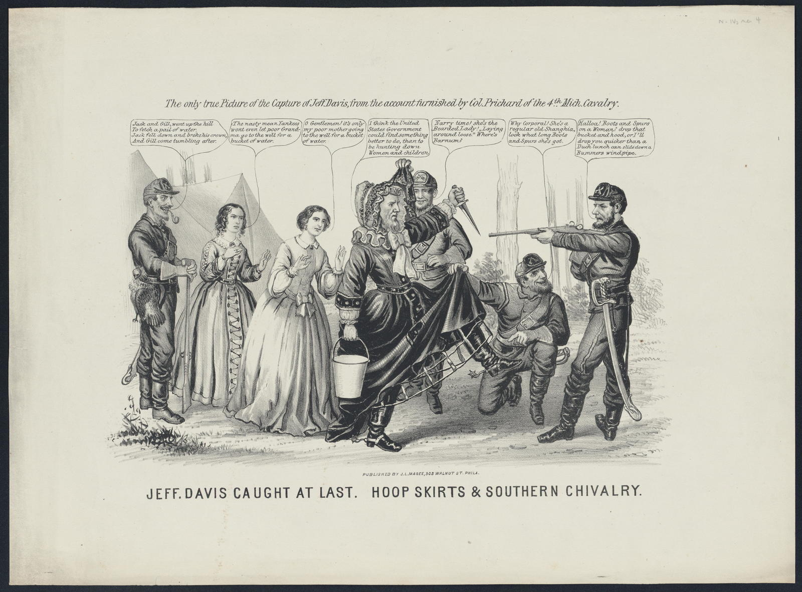 Jeff. Davis caught at last. Hoop skirts & southern chivalry.