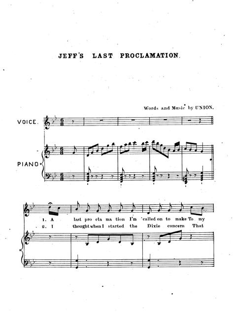 Jeff's last proclamation. Words & music by Union.