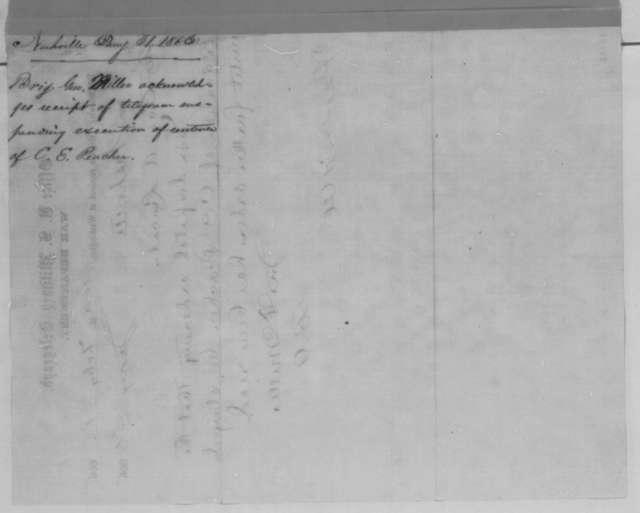 John F. Miller to Abraham Lincoln, Tuesday, January 31, 1865  (Telegram concerning case of C. E. Peacher)