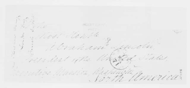 John Kershaw Craig to Abraham Lincoln, Monday, March 06, 1865  (Support from Britain)