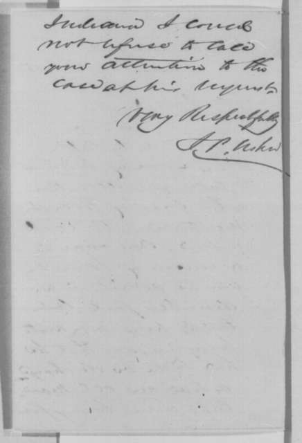 John P. Usher to Abraham Lincoln, Friday, January 20, 1865  (Case of Uriah Forrest)