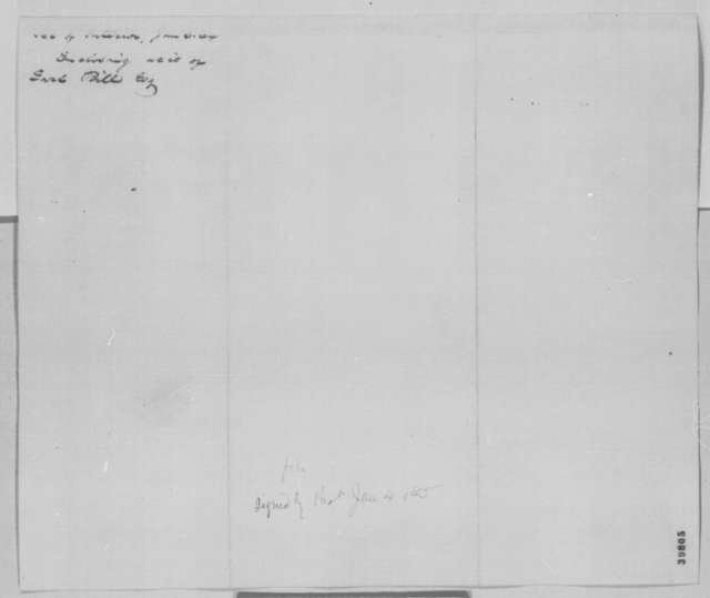 John P. Usher to Abraham Lincoln, Tuesday, January 03, 1865  (Sends account; with endorsement)