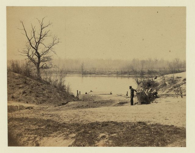 Landing where they exchange prisoners, James River, April 1865