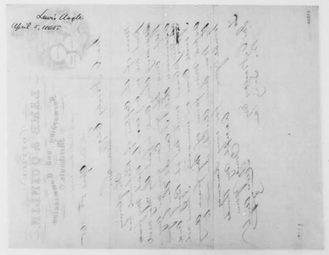 Lewis Angle to John G. Nicolay, Wednesday, April 05, 1865  (Requests pass)