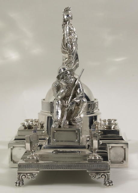 Lincoln inkwell; a gift from Charles D. Proston.