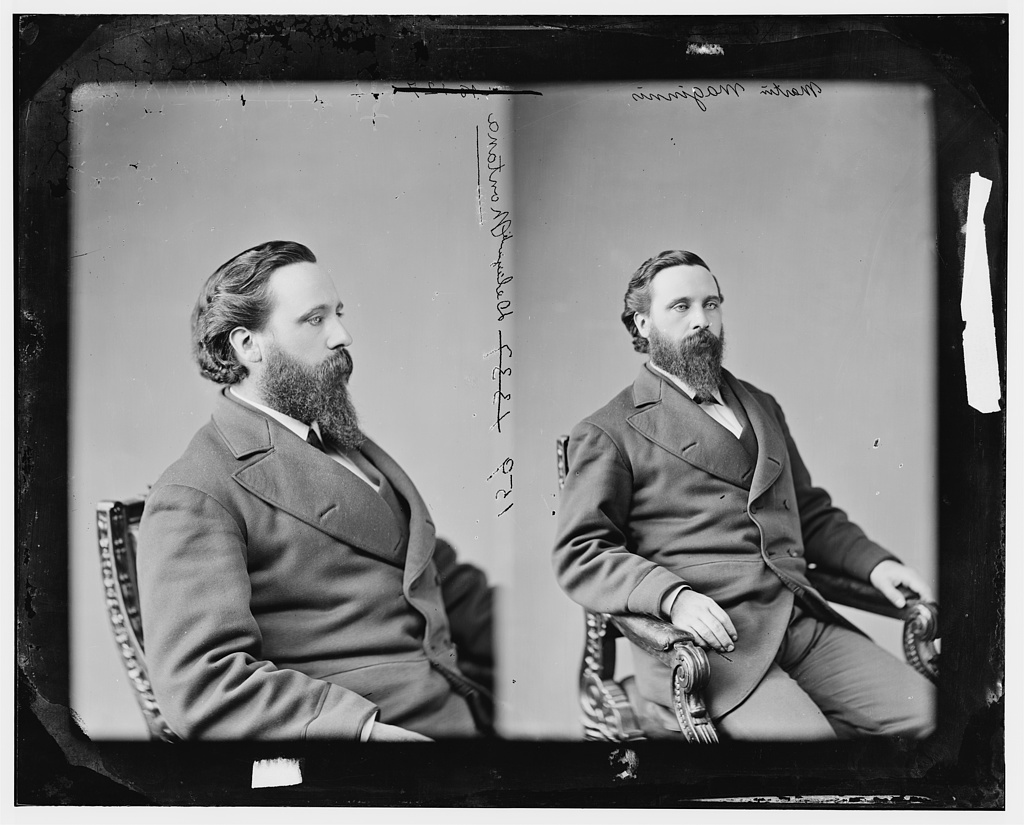 Maginnis, Hon. Martin of Delegation from Territory of Montana, Private in 1st Minn Inf., later was a Captain was appointed Major in 11th Minn. Inf. in Sept. 1864