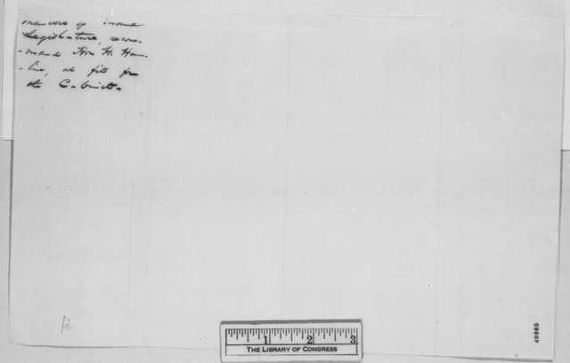 Maine Legislature, February 1865  (Resolutions on behalf of Hannibal Hamlin)