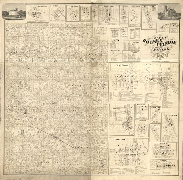 Map of Boone & Clinton counties, Indiana /