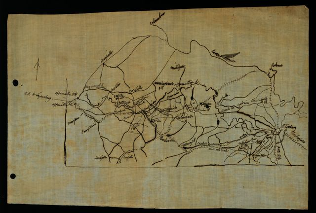 [Map of Lee's retreat from Petersburg to Appomattox Court House, Va.]