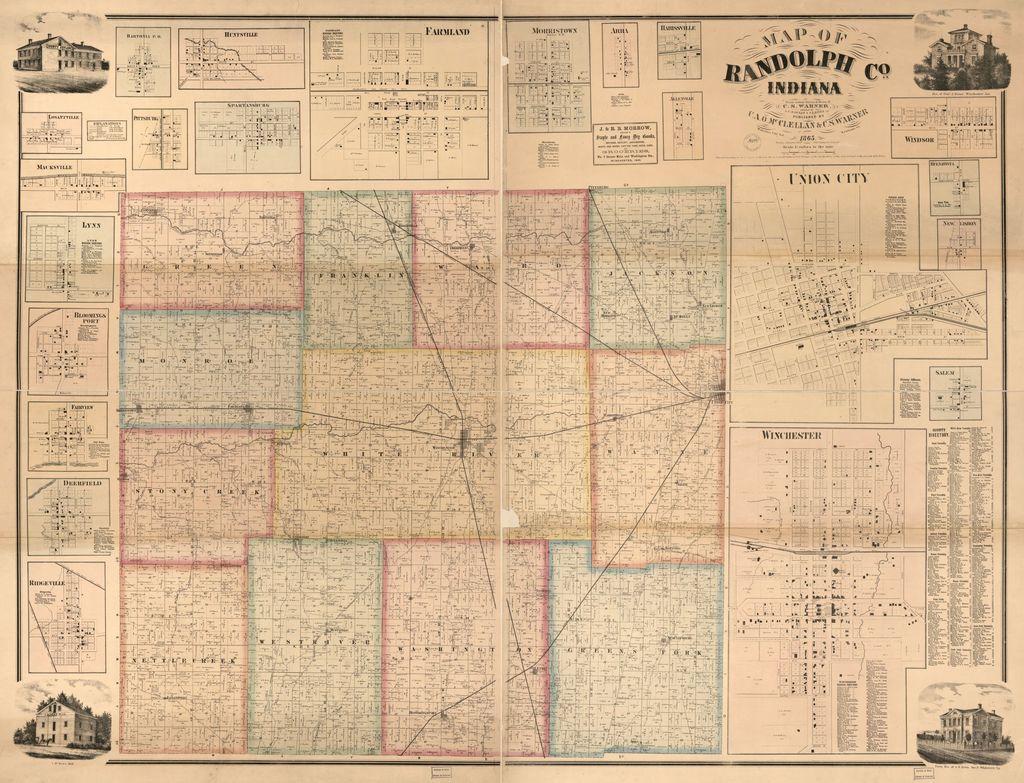 Map of Randolph Co., Indiana /