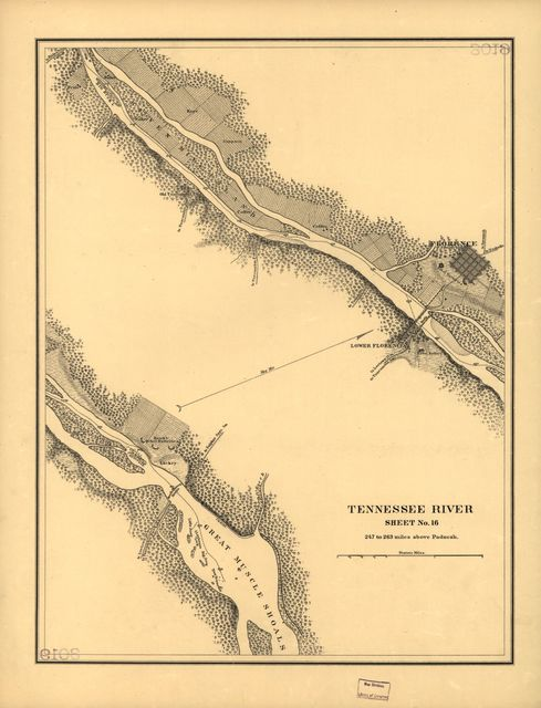 Map of the Tennessee River for the use of the Mississippi Squadron