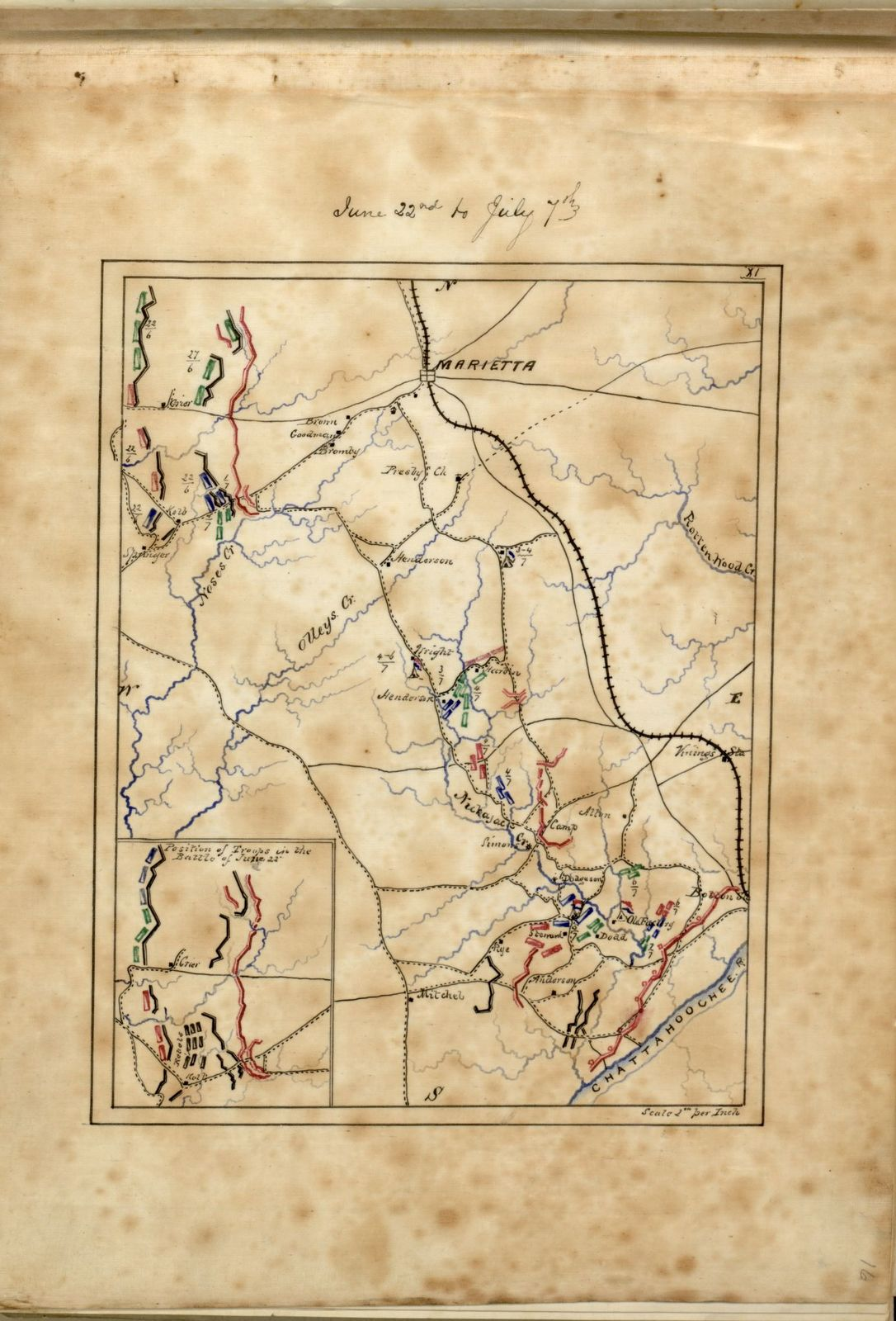 Maps illustrating Gen'l Sherman's