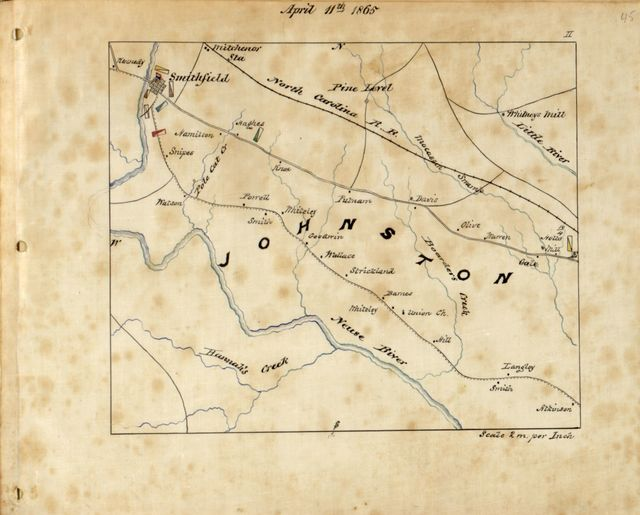 """Maps illustrating Gen'l Sherman's """"March to the sea"""" and through the Carolinas and Virginia /"""