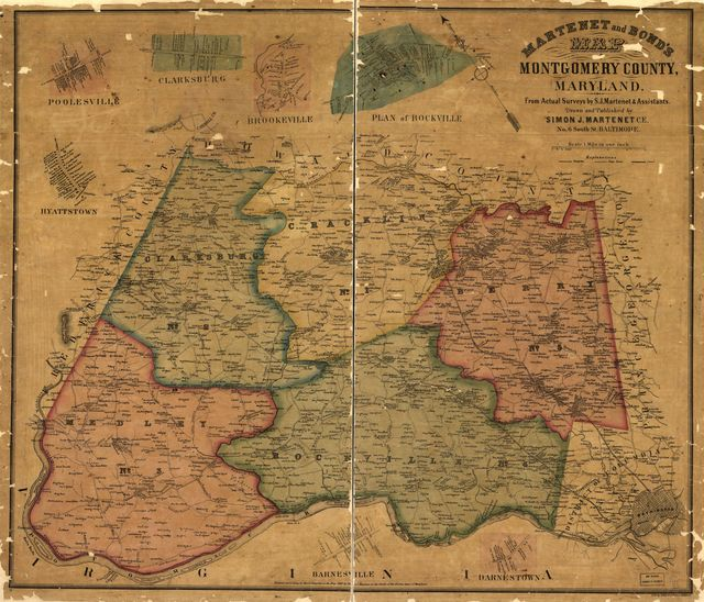 Martenet and Bond's map of Montgomery County, Maryland /
