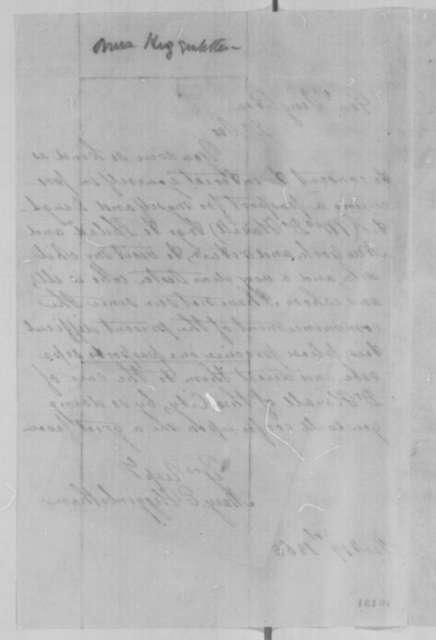 Mary E. Higginbotham to James W. Singleton, Thursday, January 19, 1865  (Requests passes)
