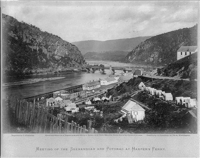 Meeting of the Shenandoah and Potomac at Harpers Ferry / negative by J. Gardner ; positive by A. Gardner.