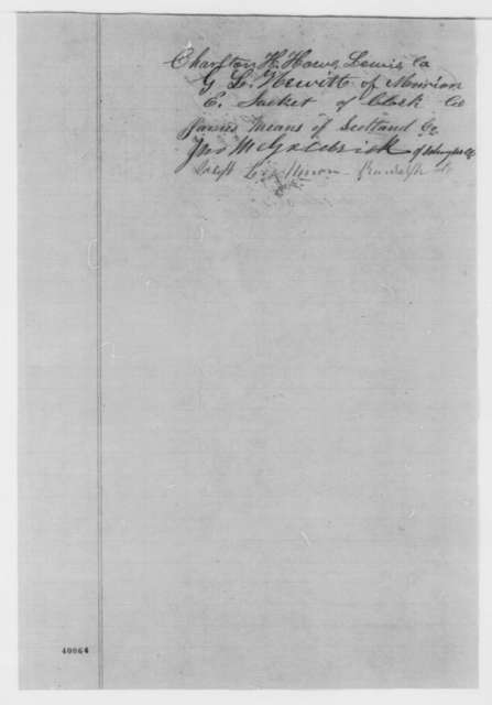 Members of Missouri Legislature from Counties in 8th Congressional District, Monday, January 16, 1865  (Resolutions protesting removal of troops)