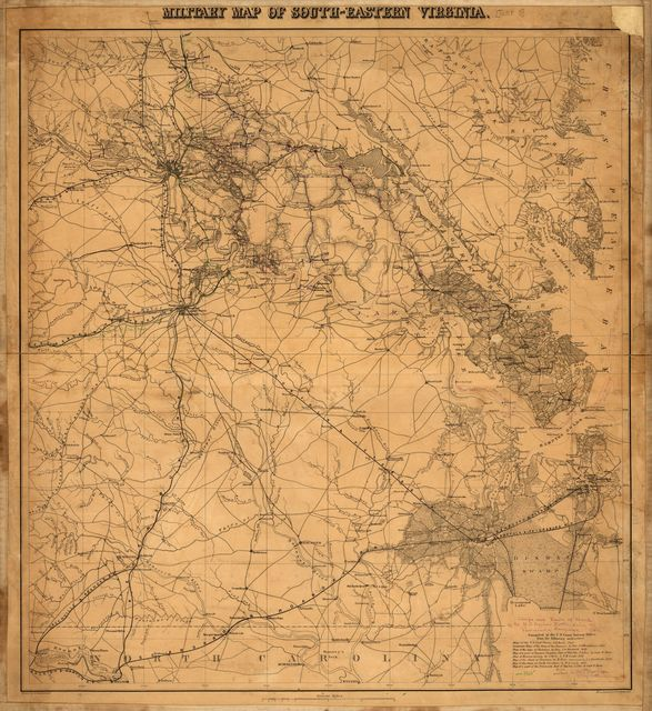 Military map of south-eastern Virginia /