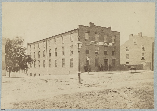 Moore Hospital (Confederate) Main Street, Richmond, Va., April, 1865