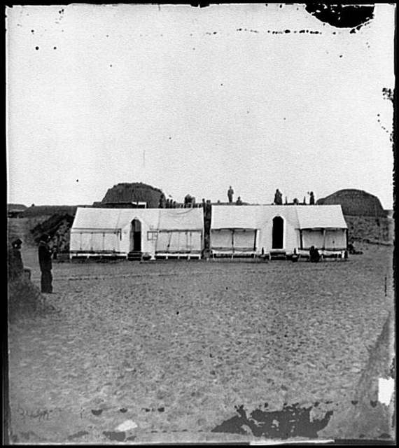 [Morris Island, S.C. Quarters of Federal garrison inside Fort Wagner]
