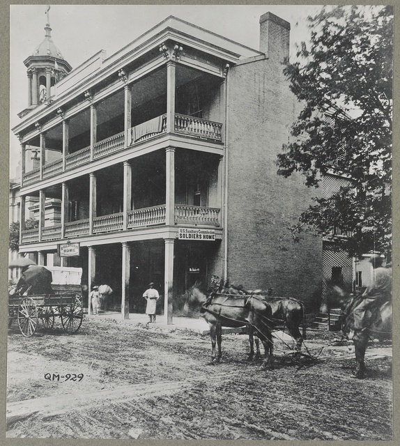 Nashville, Tenn. 1865(?). Sanitary commission, Planters hotel, Sumner Street, known as the soldiers' home