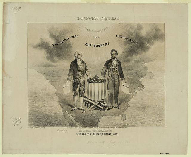 National picture. Behold oh! American, your sons the greatest among men / O. Knirsch, Chgo. ; lith. by Chas. Shober, Chicago.