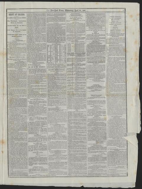 New York Times, [newspaper]. April 26, 1865.