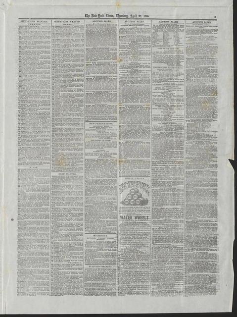 New York Times, [newspaper]. April 27, 1865.